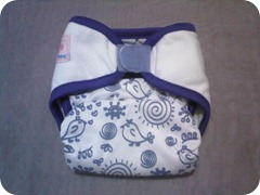 Bee Diapers Happy Bird Purple